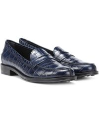 Tod's - Gommino Leather Loafers - Lyst