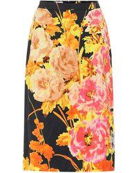 Dries Van Noten Floral Brocade Pencil Skirt - Multicolor