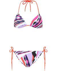 Emilio Pucci Printed Triangle Bikini - Multicolor