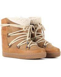 Isabel Marant Nowles Ankle Boots - Natural