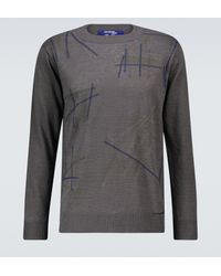 Junya Watanabe Embroidered Linen Jumper - Grey