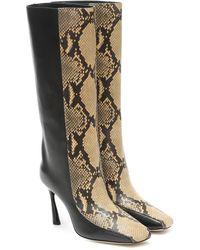 Jimmy Choo Mabyn 85 Leather Knee-high Boots - Black