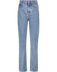 Dolce & Gabbana Jean droit raccourci à taille haute - Bleu