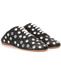 Acne Studios - Mika Stone Leather Lace-up Slippers - Lyst