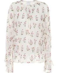 Giambattista Valli Floral Silk Blouse - Multicolour