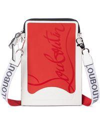 Christian Louboutin Smartphone-Hülle Loubilab aus Leder - Weiß