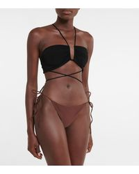 Magda Butrym Haut de bikini dos nu - Noir