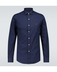 Polo Ralph Lauren Hemd aus Baumwolle - Blau