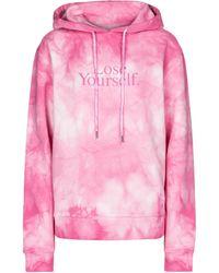 Paco Rabanne Tie-dye Cotton Hoodie - Pink