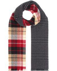 Miu Miu - Karierter Schal aus Wolle - Lyst