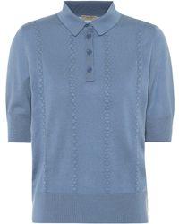 Bottega Veneta Wool Polo Shirt - Blue