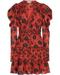 Ulla Johnson Windsor Floral Cotton-blend Minidress - Red
