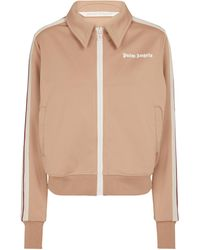 Palm Angels Jersey Track Jacket - Brown