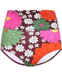 Dodo Bar Or Braga de bikini floral de talle alto - Multicolor