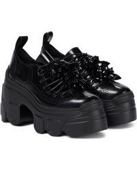 Simone Rocha Embellished Platform Ankle Boots - Black