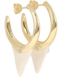 Zimmermann Wavelength Surf Hoop Earrings - Metallic