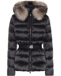 Moncler - Tatie Fur-trimmed Down Jacket - Lyst