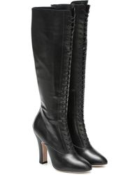 Miu Miu Leather Knee-high Boots - Black
