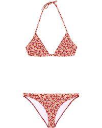 Tomas Maier Bikini mit Blumenprint - Rot