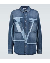 Valentino Distressed-Hemdjacke VLTN - Blau