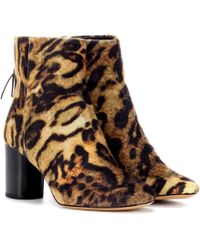 Isabel Marant - Ritza Leopard-printed Ankle Boots - Lyst