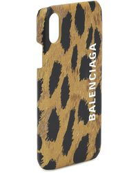 Balenciaga IPhone XS-Hülle mit Leo-Print - Braun