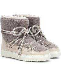 Inuikii Ankle Boots Curly aus Veloursleder - Natur