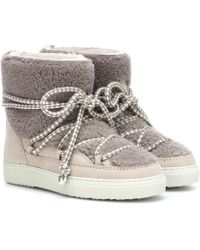 Inuikii Shearling-trimmed Ankle Boots - Natural