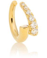 Melissa Kaye Lola 18kt Gold Single Ear Cuff With Diamonds - Metallic