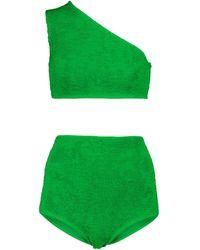 Bottega Veneta Bikini de un solo hombro - Verde