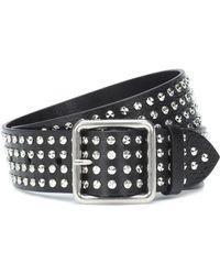 Alexander McQueen Embellished Leather Belt - Black