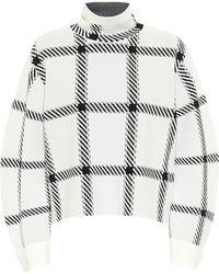 Stella McCartney Checked Funnel-neck Sweater - Multicolour