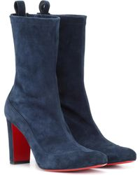 Christian Louboutin - Gena 85 Suede Ankle Boots - Lyst