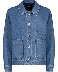 A.P.C. Nikkie Denim Jacket - Blue
