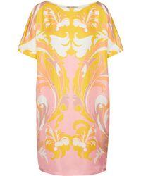 Emilio Pucci Printed Silk Twill Midi Dress - Pink