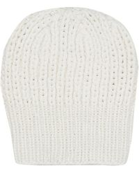 The Row Ayfer Cashmere Beanie - White
