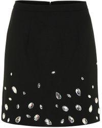 Christopher Kane Crystal-embellished Crêpe Miniskirt - Black