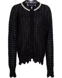 Simone Rocha Embellished Mohair-blend Cardigan - Black