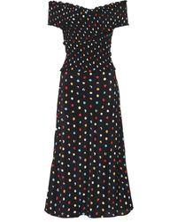 Anna October - Polka-dot Off-the-shoulder Dress - Lyst