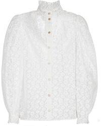 Gucci Bluse aus Spitze - Weiß