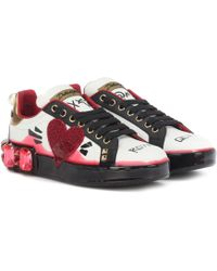 Dolce & Gabbana - Portofino Melt Leather Sneakers - Lyst