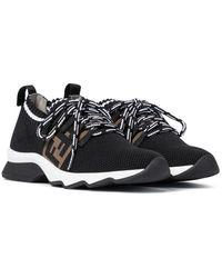 Fendi Sneakers in mesh FF - Nero