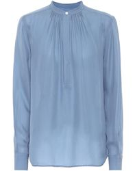 Polo Ralph Lauren Blusa en mezcla de seda - Azul