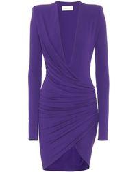 Alexandre Vauthier Exclusive To Mytheresa – Stretch-jersey Minidress - Purple