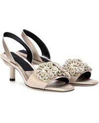 Sanayi 313 - Randa Embellished Slingback Sandals - Lyst