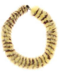 Mary Katrantzou - Twisted Fur Choker - Lyst
