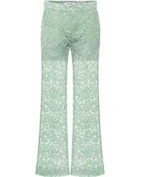 Valentino Hose aus Spitze mit Baumwollanteil - Grün
