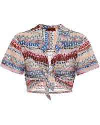 Missoni Crop top de croché a rayas - Multicolor