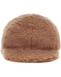 Max Mara Editto Faux Fur Cap - Brown