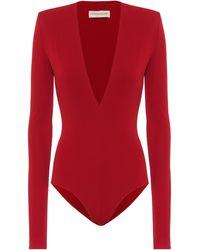 Alexandre Vauthier Stretch-jersey Bodysuit - Red